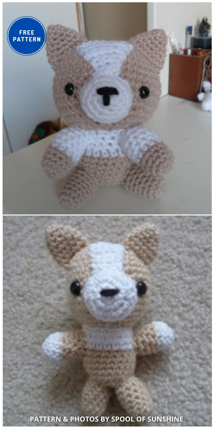 Amigurumi Corgi Pattern - 17 Free Amigurumi Dog Crochet Patterns