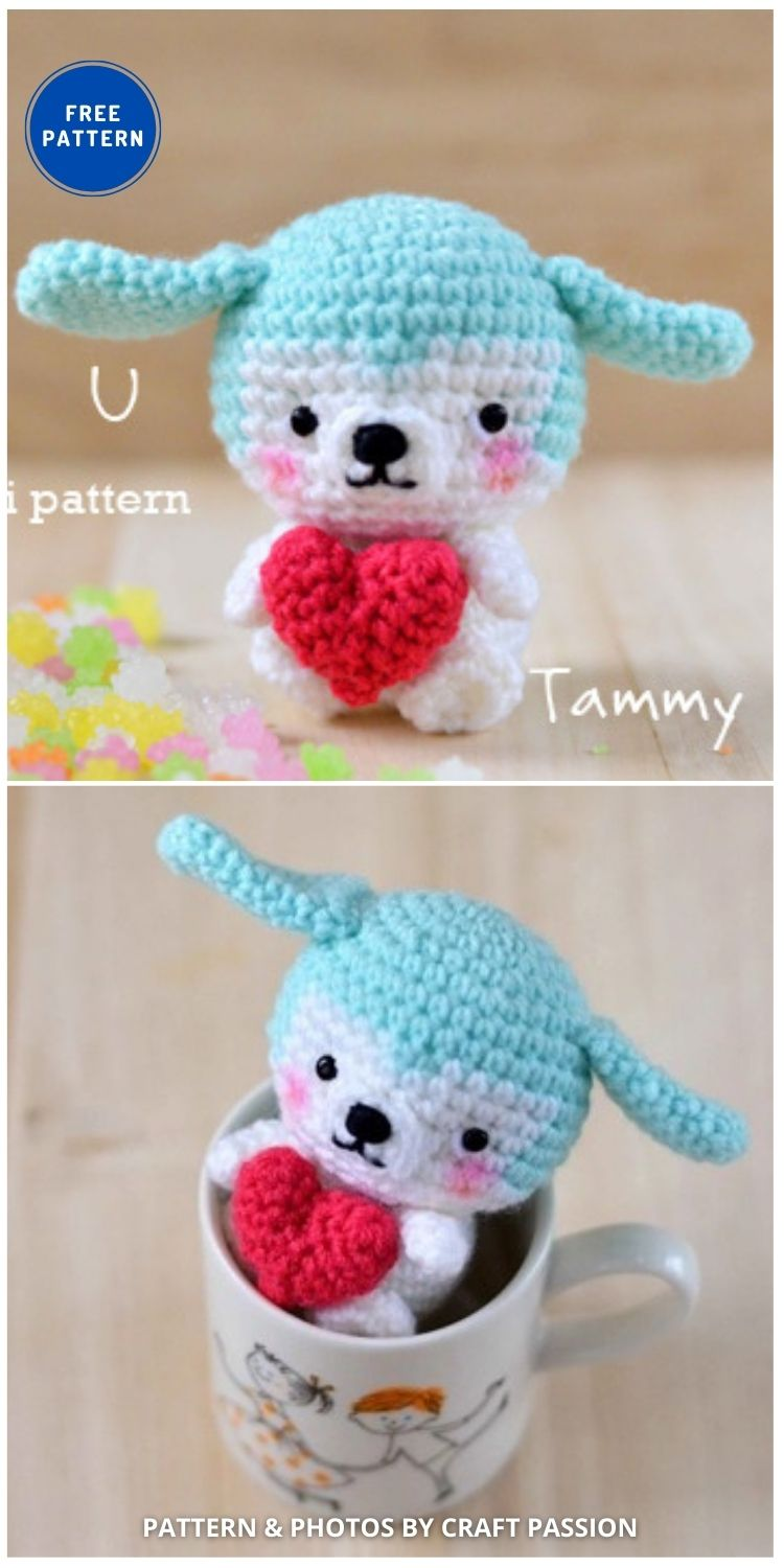 Amigurumi Puppy - 17 Free Amigurumi Dog Crochet Patterns