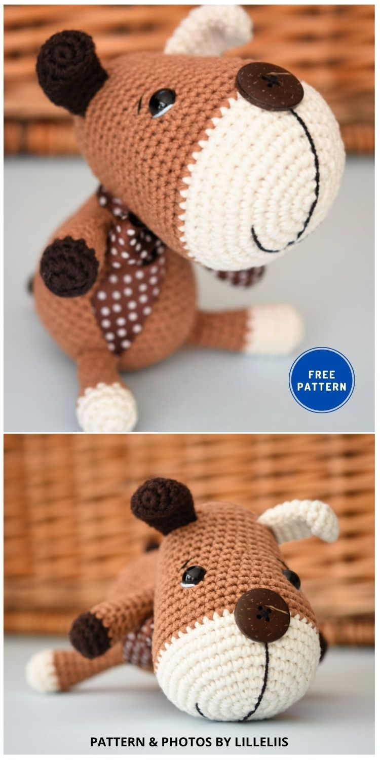 Amigurumi Sock Puppy - 17 Free Amigurumi Dog Crochet Patterns