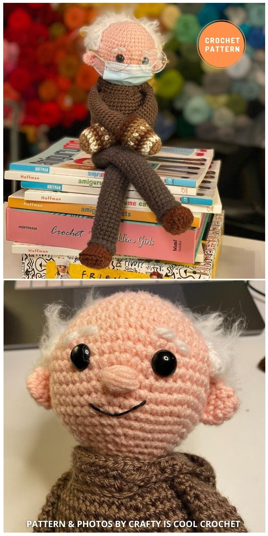 BIG Bernie Sanders Sittin' with Mittens - 9 Bernie Sanders Crochet Doll Patterns