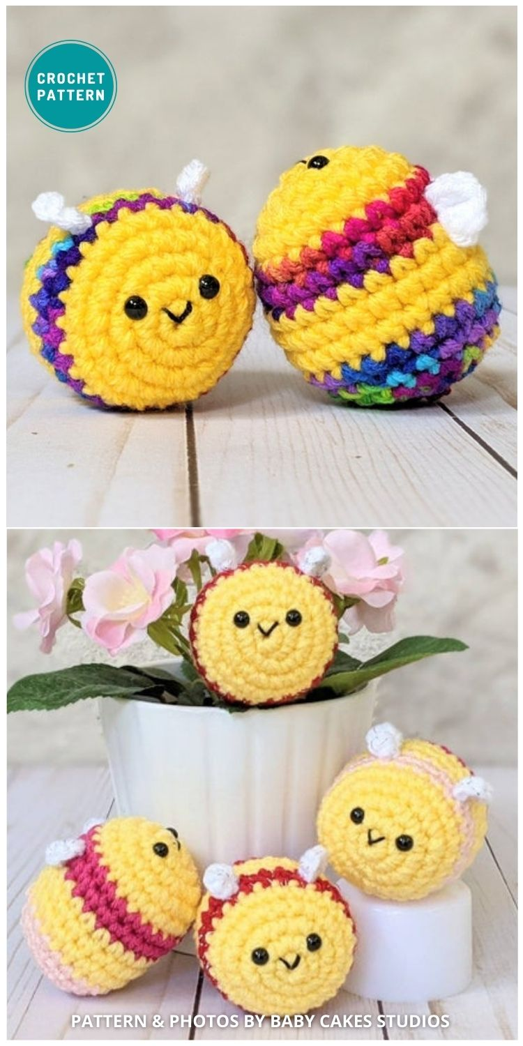 Baby Bee Stuffed Animal - 15 Cute & Easy Amigurumi Bee Crochet Patterns
