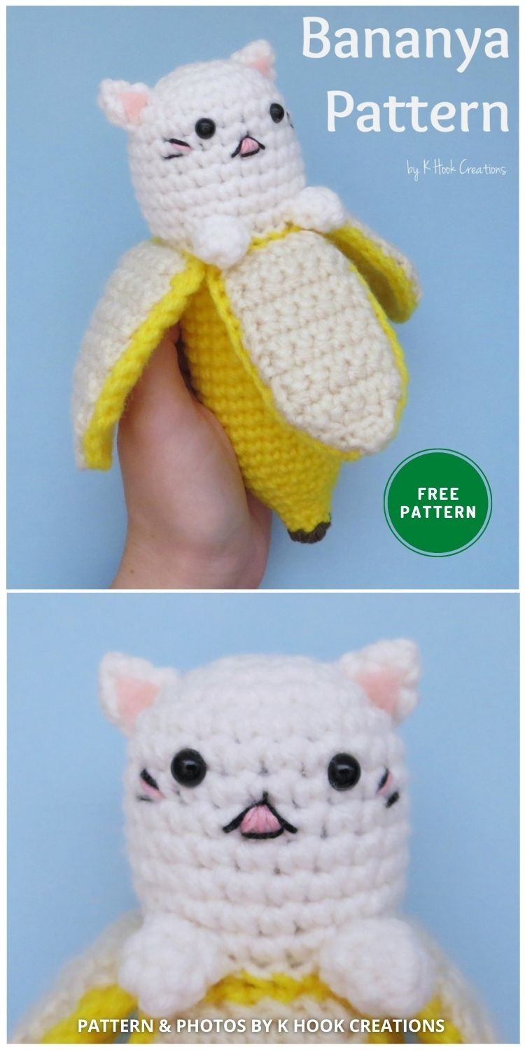 Bananya Pattern - 14 Free Amigurumi Cat Crochet Patterns