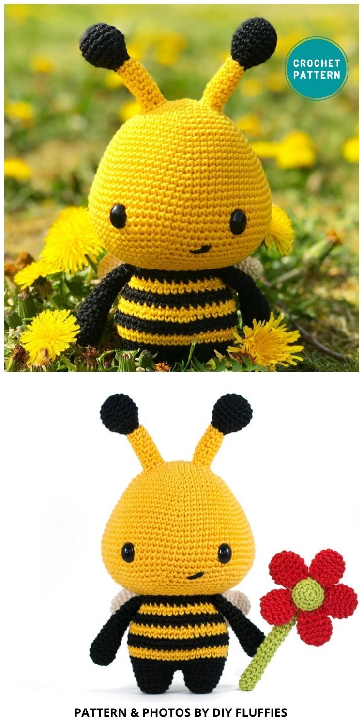 _Barry the Bee Amigurumi - 15 Cute & Easy Amigurumi Bee Crochet Patterns