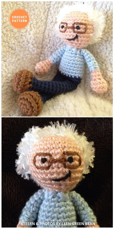 Bernie Sanders - 9 Bernie Sanders Crochet Doll Patterns (1)