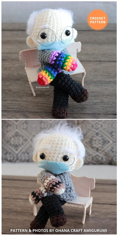 Bernie Sanders -Bernie's Mittens - 9 Bernie Sanders Crochet Doll Patterns