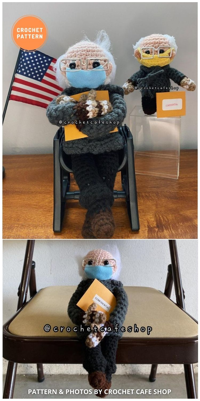 Bernie Sanders Mittens Inauguration 2021 Doll - 9 Bernie Sanders Crochet Doll Patterns