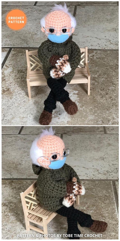Bernie's Mittens - 9 Bernie Sanders Crochet Doll Patterns