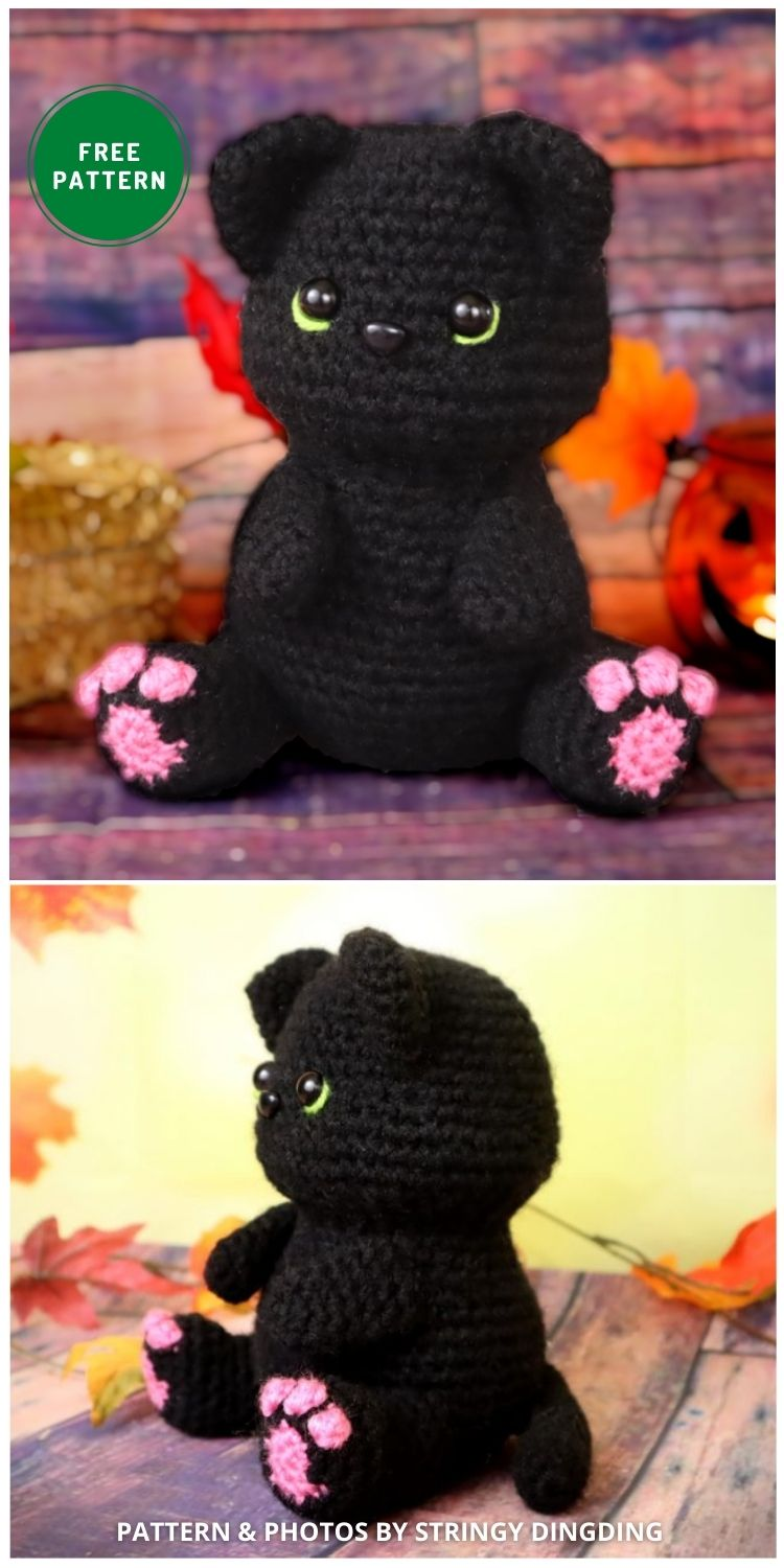 Black Cat Amigurumi - 14 Free Amigurumi Cat Crochet Patterns