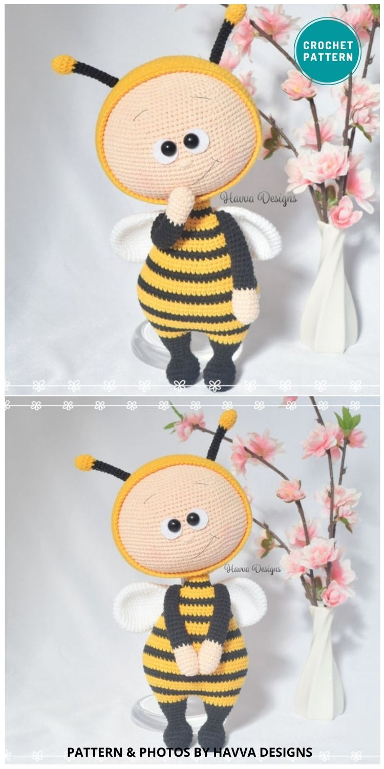 Bonnie Bee Doll - 15 Cute & Easy Amigurumi Bee Crochet Patterns