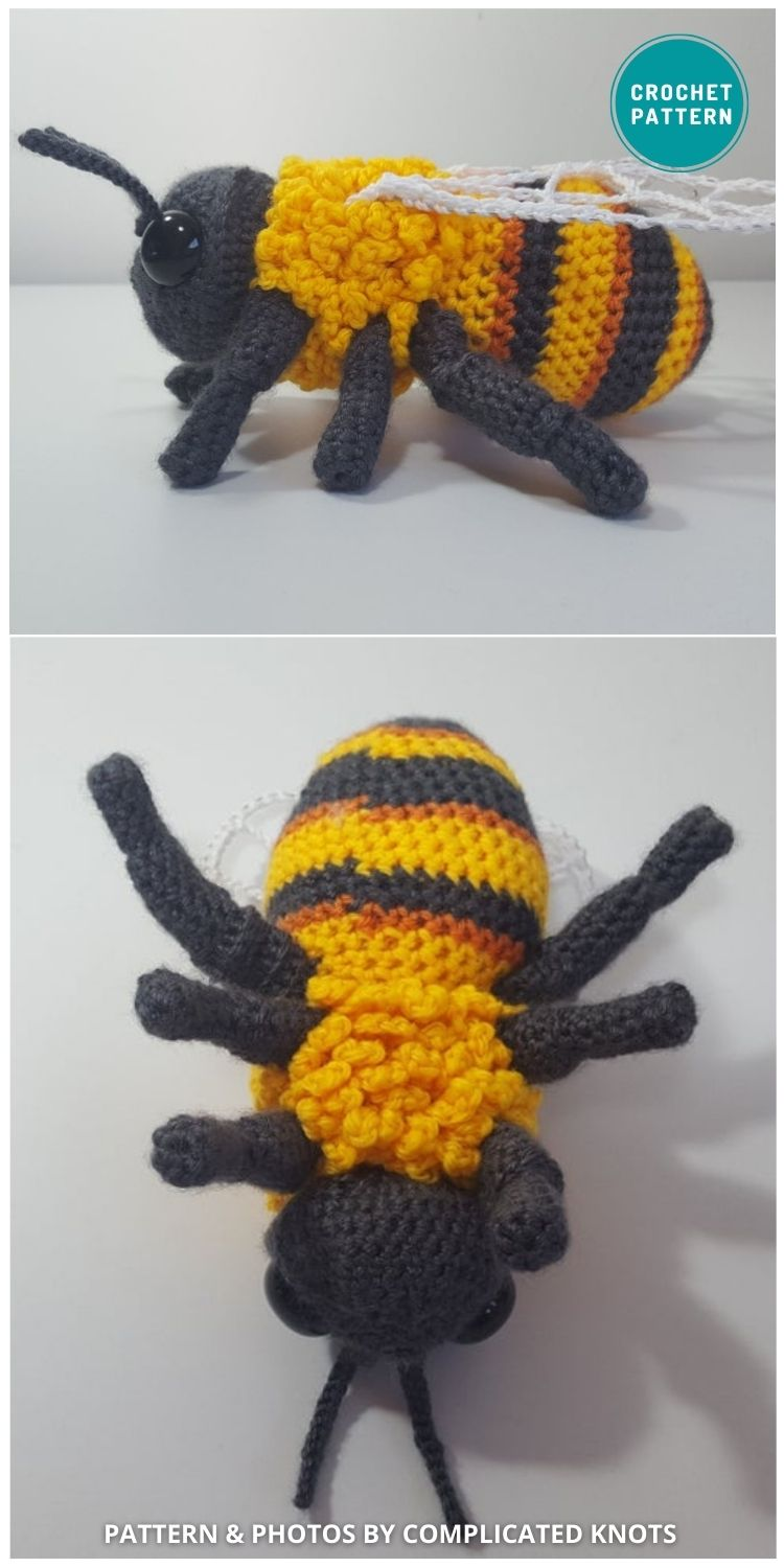 Bumblebee - 15 Cute & Easy Amigurumi Bee Crochet Patterns
