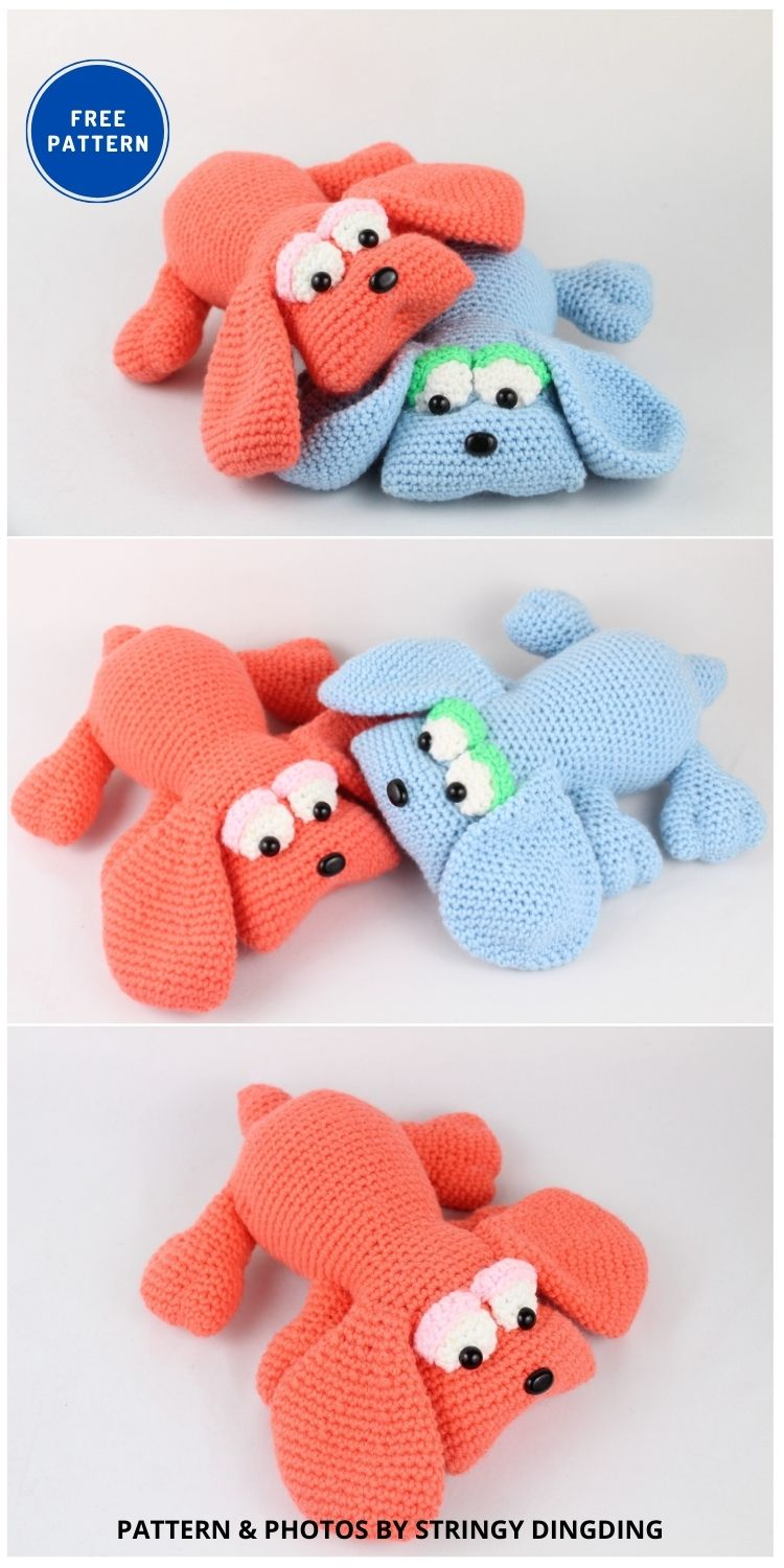 Cartoon Hound Dog Amigurumi - 17 Free Amigurumi Dog Crochet Patterns