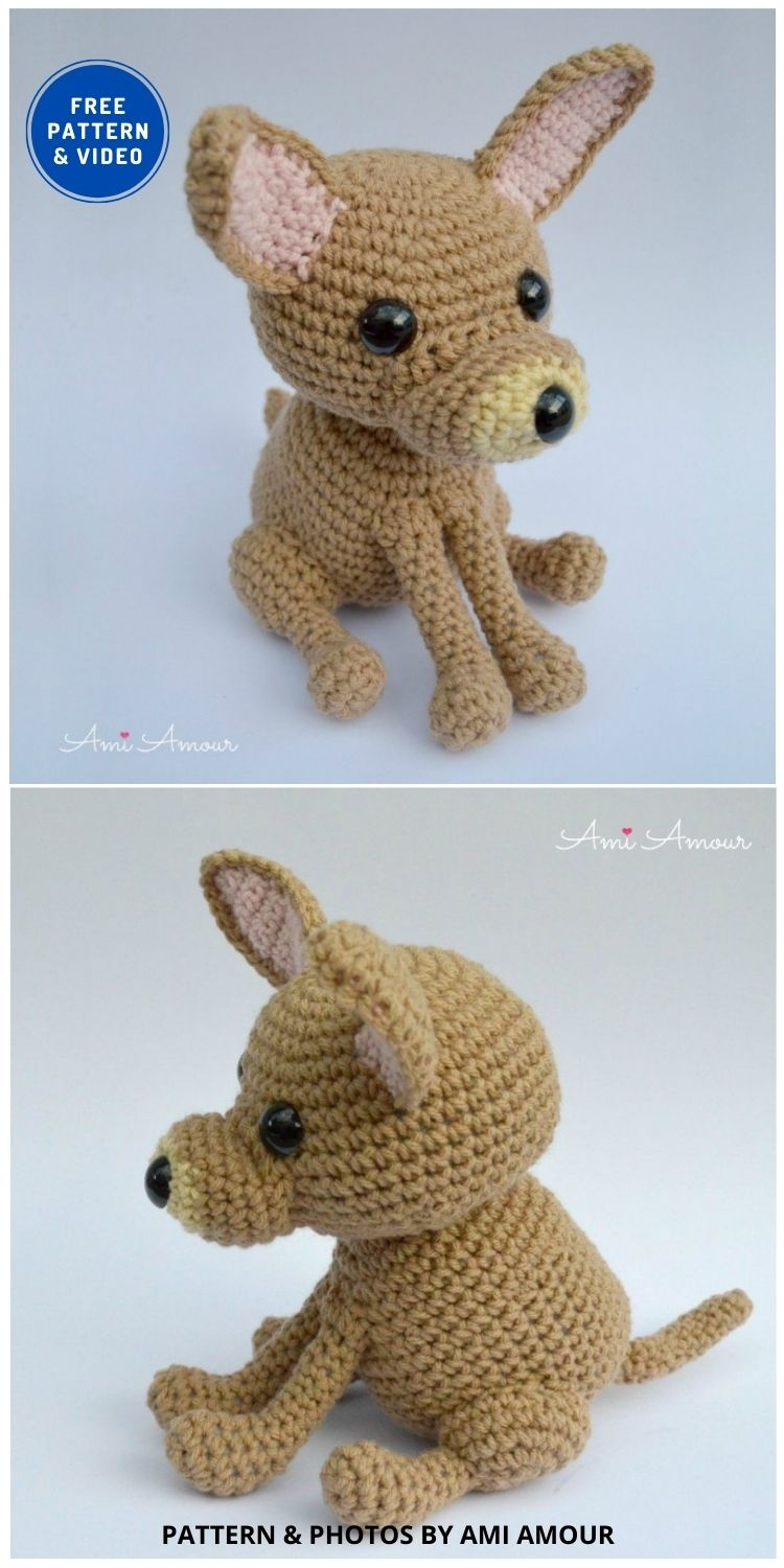 Chihuahua Amigurumi - 17 Free Amigurumi Dog Crochet Patterns