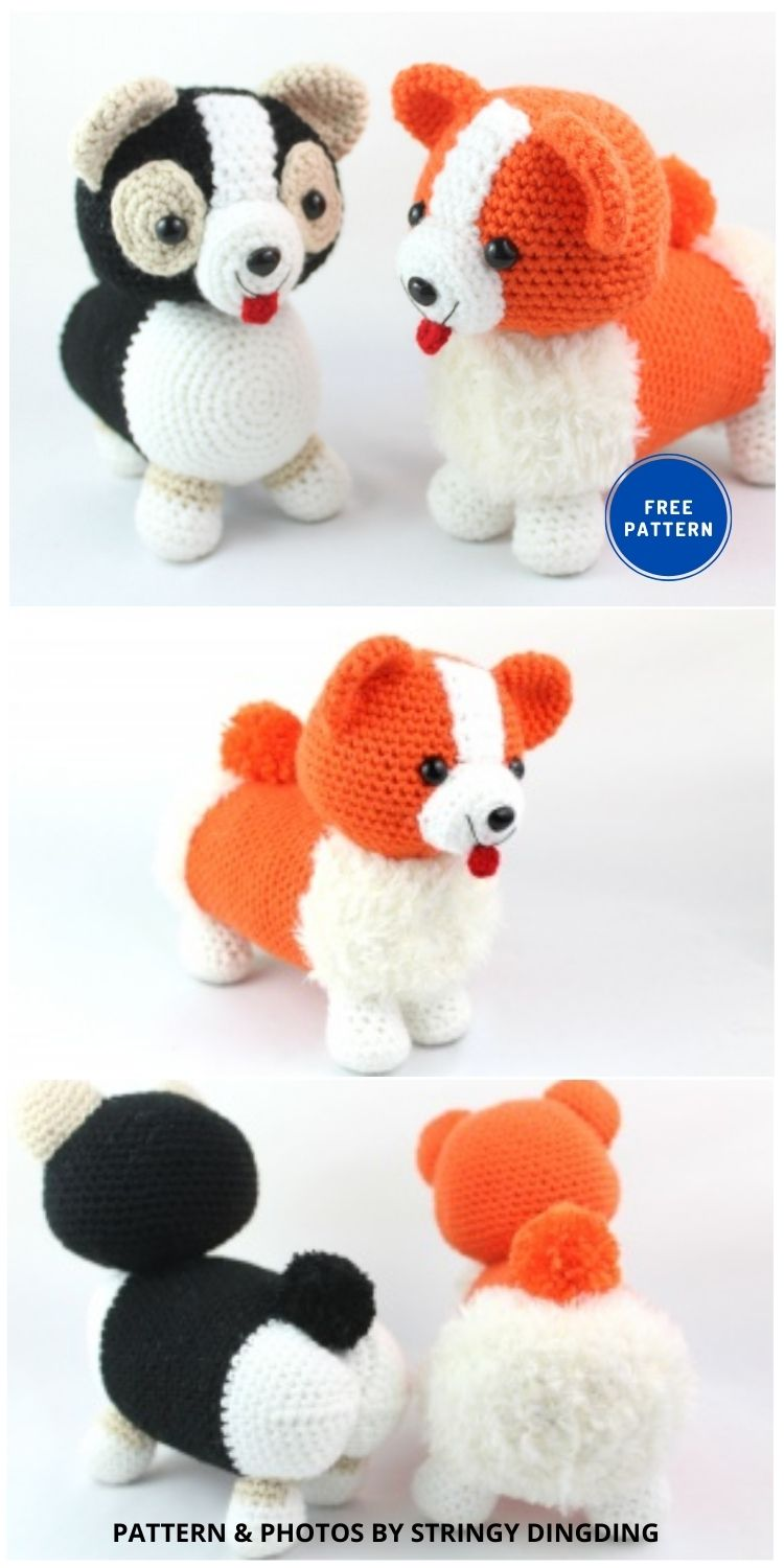 Corgi Dog Amigurumi - 17 Free Amigurumi Dog Crochet Patterns