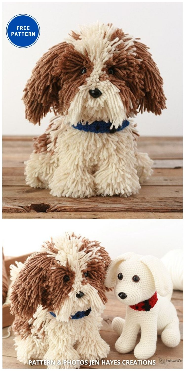 Crochet Puppy Dog - 17 Free Amigurumi Dog Crochet Patterns
