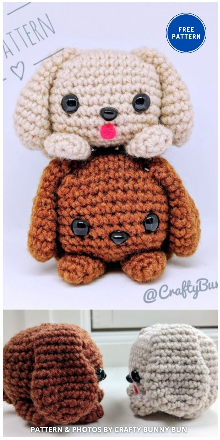 Cube Puppy Dog Amigurumi - 17 Free Amigurumi Dog Crochet Patterns