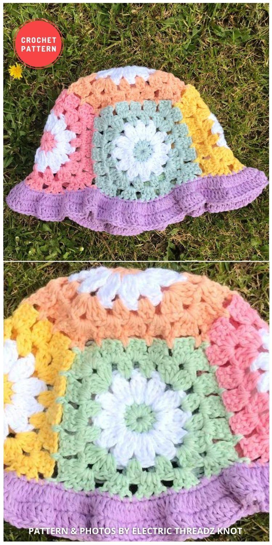 Daisy Bell Bucket Hat - 15 Easy Crochet Bucket Hat Patterns For Summer