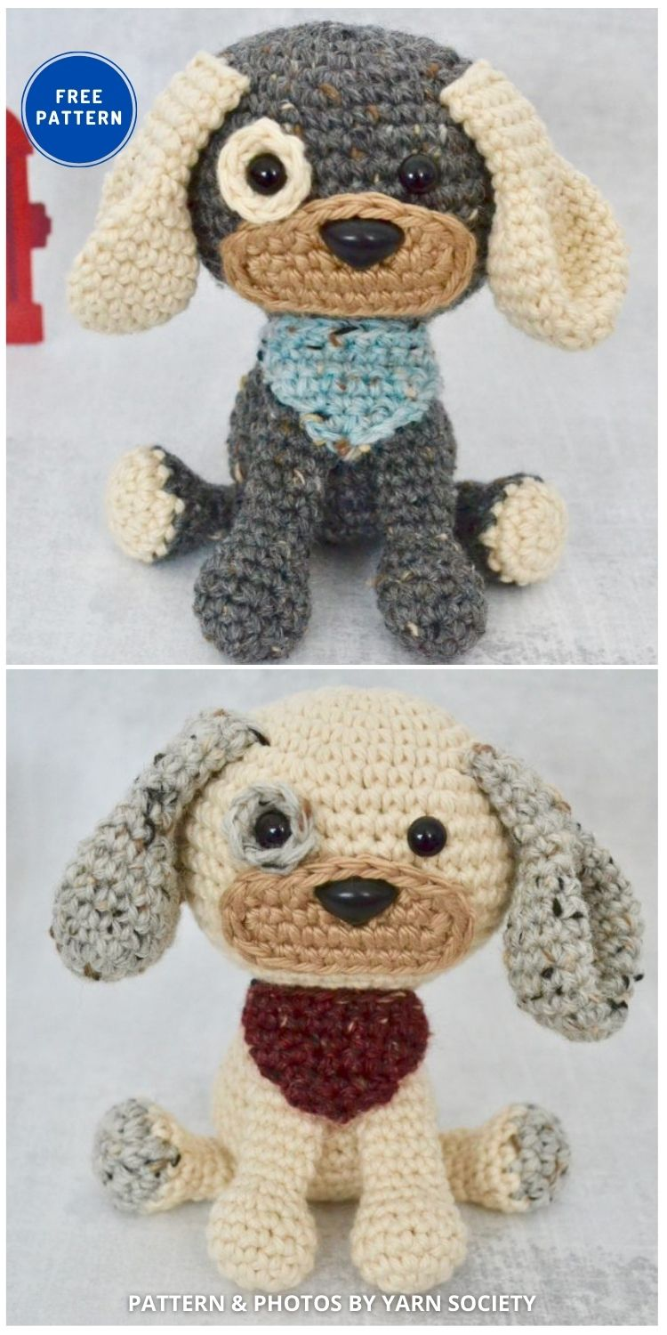 Dash The Dog - 17 Free Amigurumi Dog Crochet Patterns