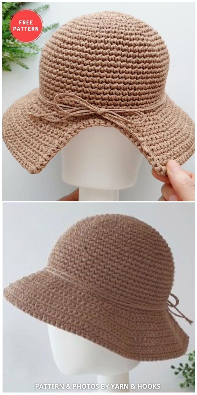 Free Bucket Hat Crochet Pattern - 15 Easy Crochet Bucket Hat Patterns For Summer