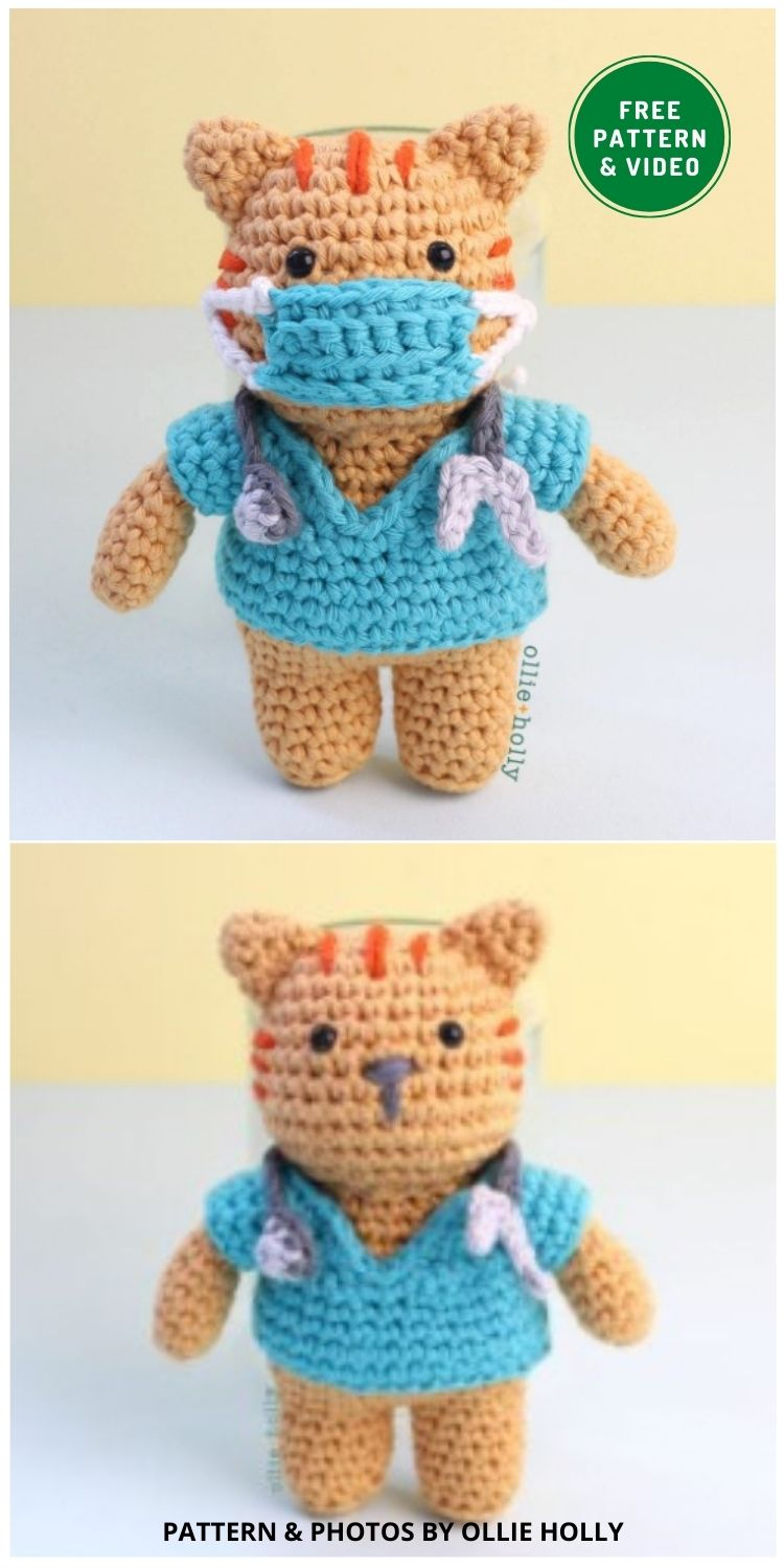 Free Nurse Cat Amigurumi - 14 Free Amigurumi Cat Crochet Patterns