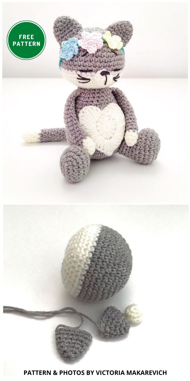 Free amigurumi cat pattern - 14 Free Amigurumi Cat Crochet Patterns INDIVIDUAL