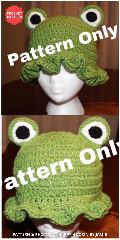 Froggy Bucket Hat - 15 Easy Crochet Bucket Hat Patterns For Summer