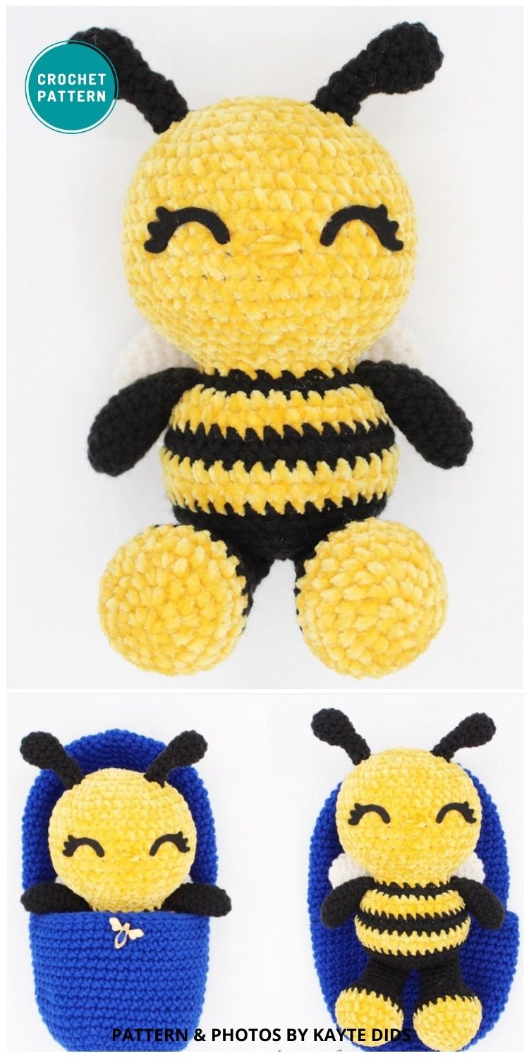 Hatching BumbleBee - 15 Cute & Easy Amigurumi Bee Crochet Patterns