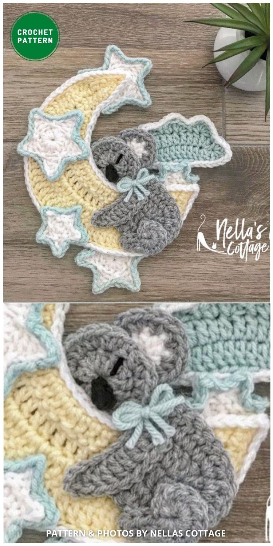 Koala Applique Pattern - 12 Super Cute Crochet Animal Applique Patterns