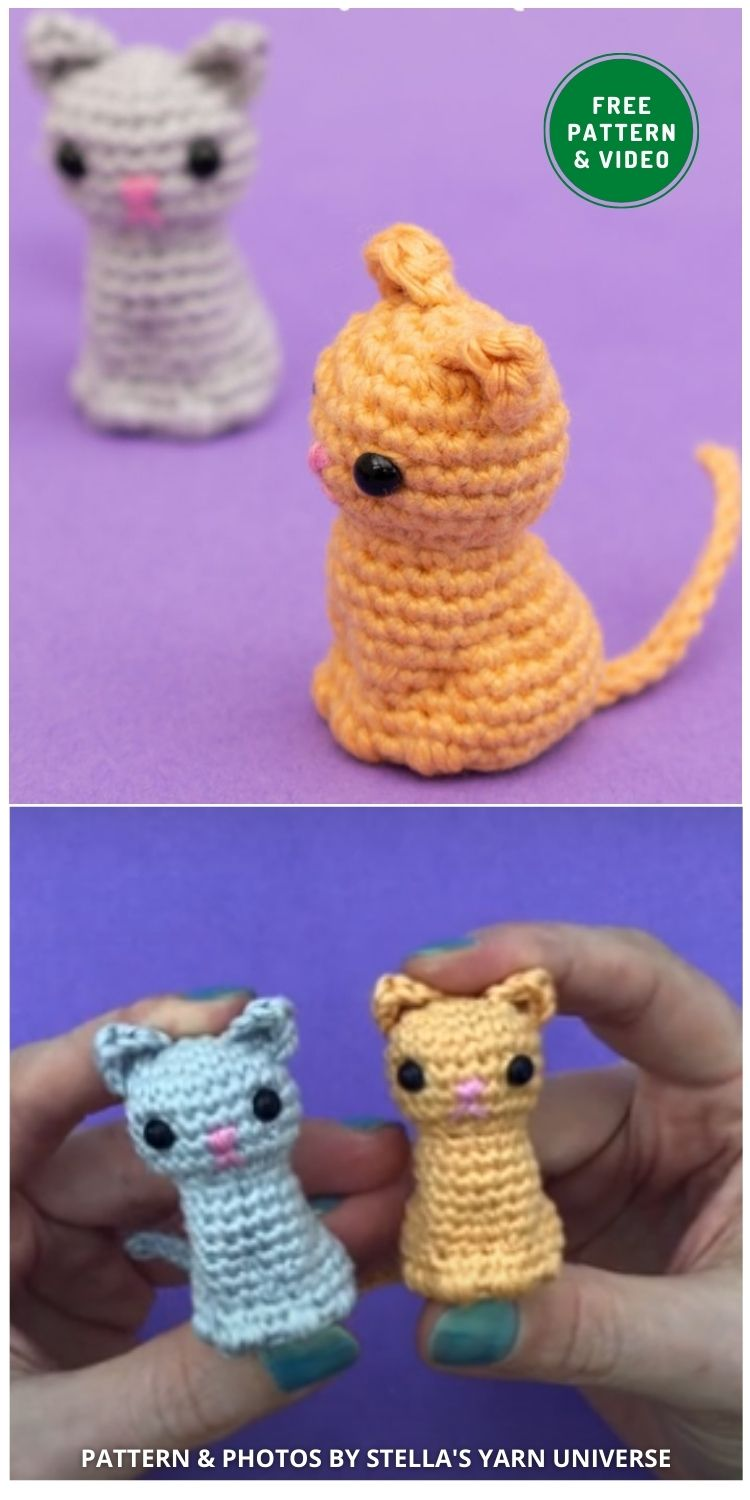 Little Amigurumi Cat - 14 Free Amigurumi Cat Crochet Patterns