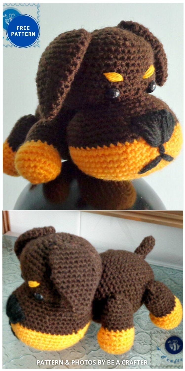 Little Rottie Amigurumi - 17 Free Amigurumi Dog Crochet Patterns