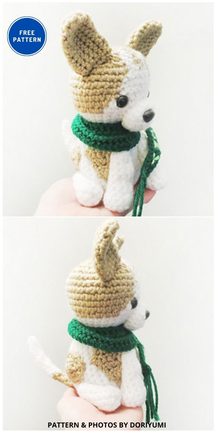 Lucky, The Chihuahua Dog - 17 Free Amigurumi Dog Crochet Patterns
