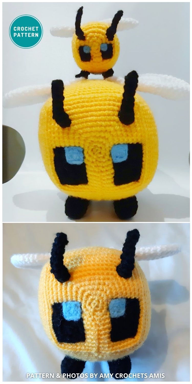 Minecraft Bee - 15 Cute & Easy Amigurumi Bee Crochet Patterns