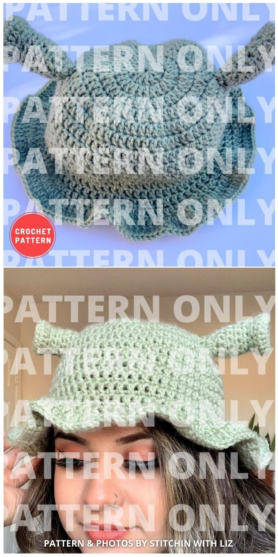 Ogre Crochet Bucket Hat - 15 Easy Crochet Bucket Hat Patterns For Summer