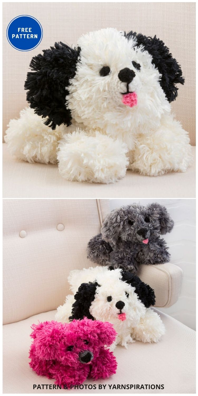 Red Heart Irresistible Crochet Puppy - 17 Free Amigurumi Dog Crochet Patterns
