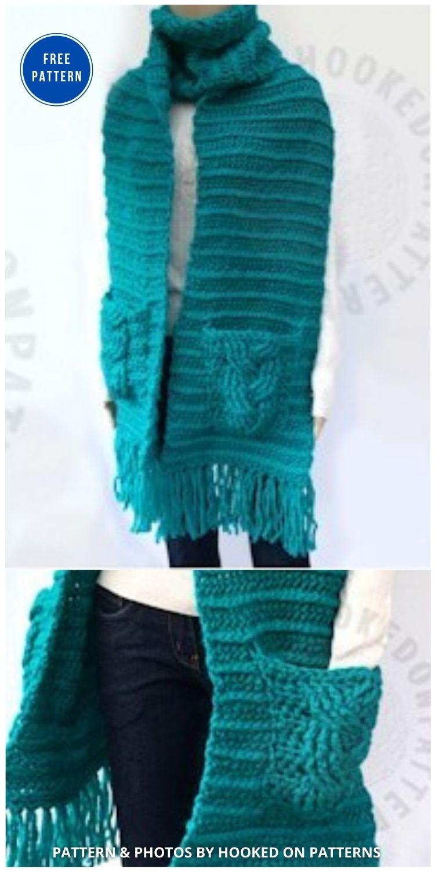 Scarf Pattern Super Chunky - 19 Quick & Easy Pocket Shawl Crochet Patterns