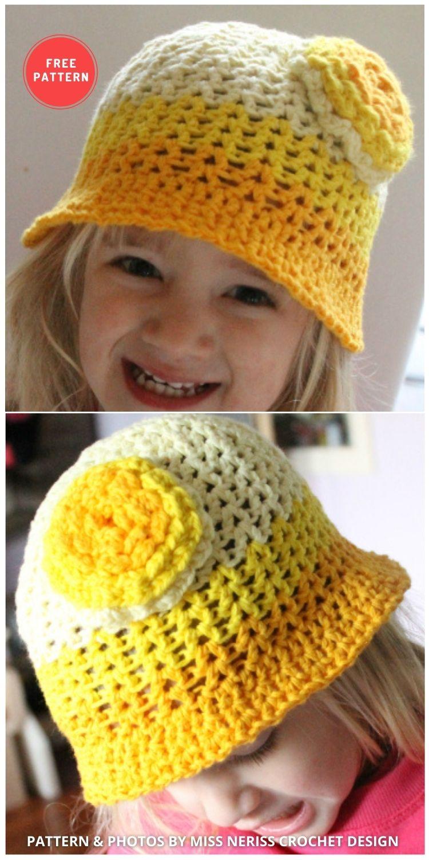 Scheepjes Bucketful of Sunshine Hat - 15 Easy Crochet Bucket Hat Patterns For Summer