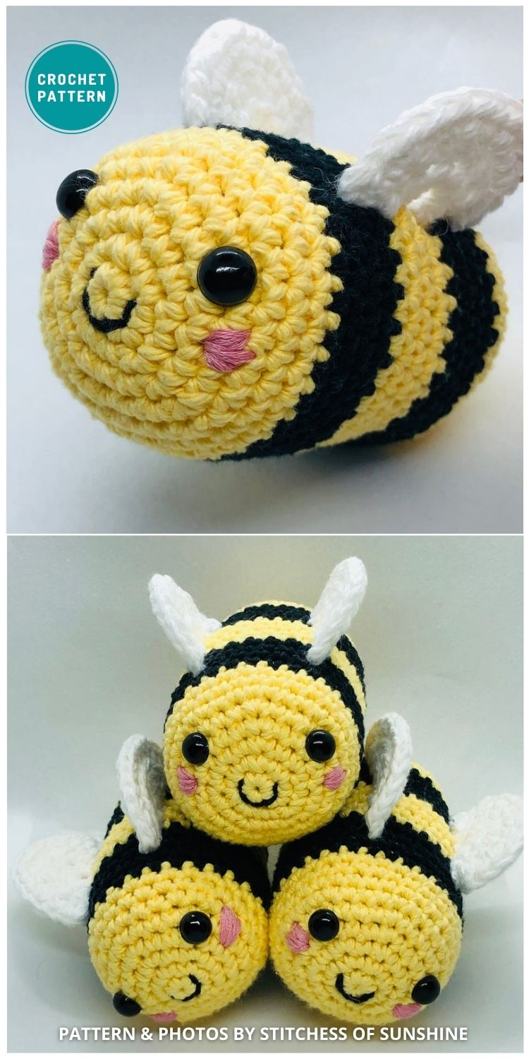 _Smiley Bee - 15 Cute & Easy Amigurumi Bee Crochet Patterns