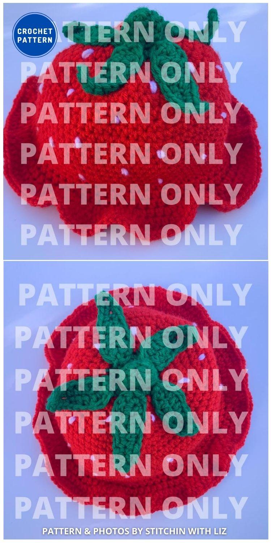 Strawberry Crochet Bucket Hat - 8 Cute & Easy Crochet Strawberry Bucket Hat Patterns