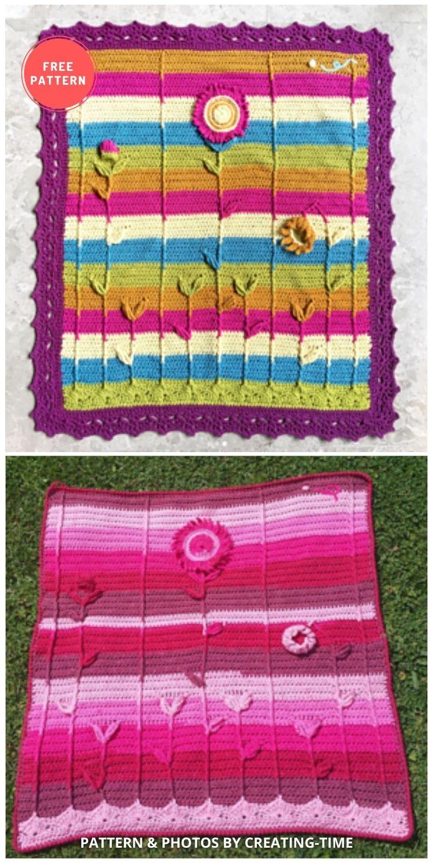 Sunflower Baby Blanket - 8 Free Summer Sunflower Blanket & Afghan Crochet Patterns
