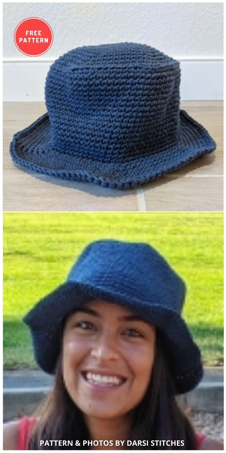 The 90's are Back Bucket Hat - 15 Easy Crochet Bucket Hat Patterns For Summer