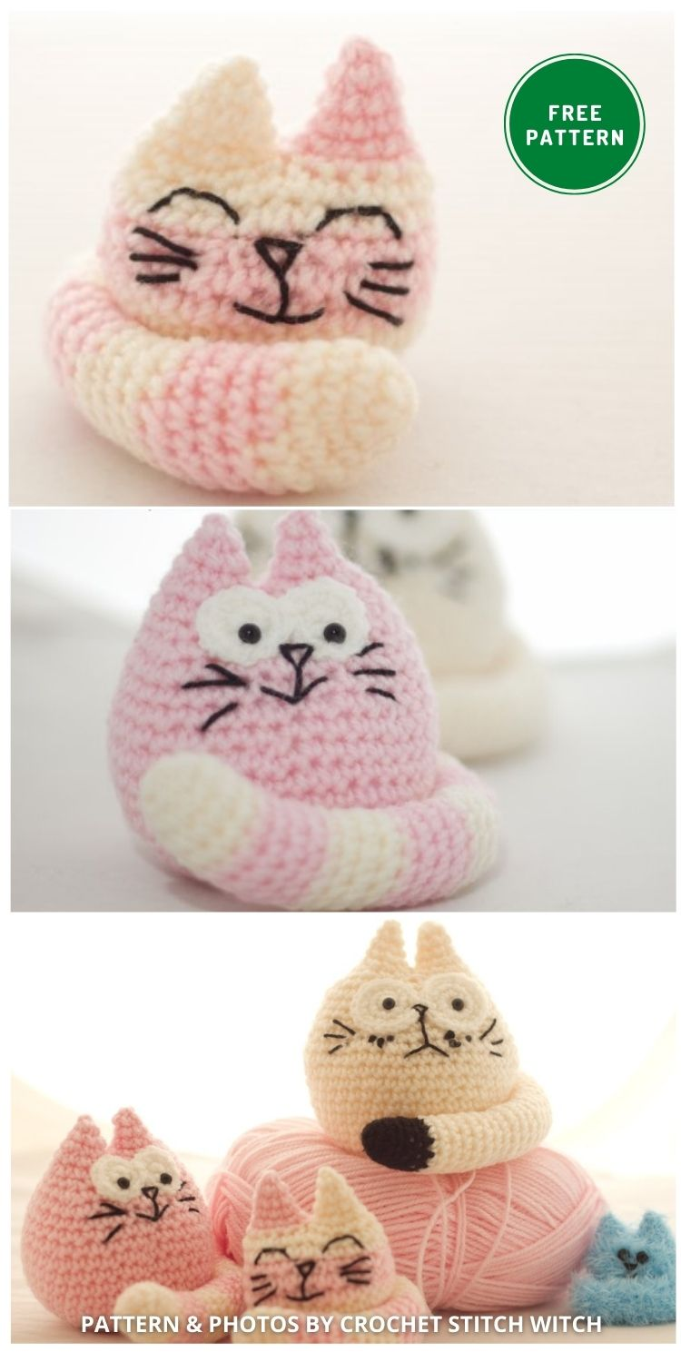 The Fat Cats - 14 Free Amigurumi Cat Crochet Patterns