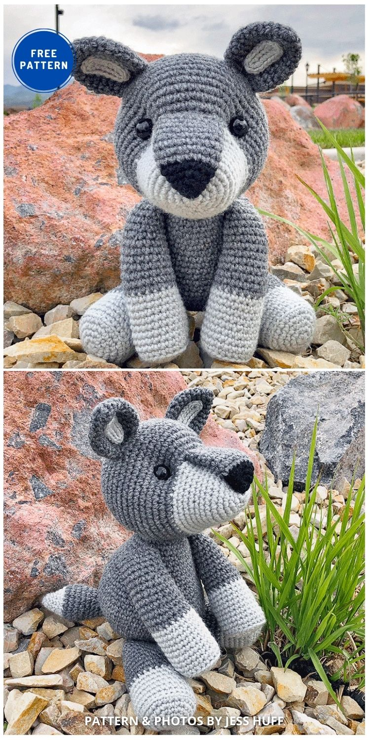 Walter The Wolf Free Amigurumi - 17 Free Amigurumi Dog Crochet Patterns