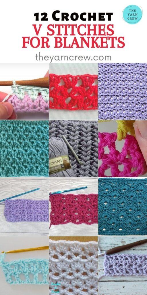12 Crochet V Stitches For Blankets - PIN2