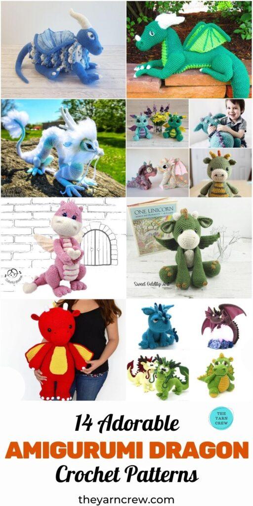 14 Adorable Amigurumi Dragon Crochet Patterns Pin 3