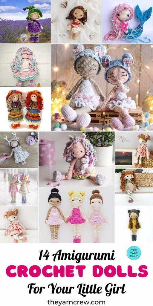 14 Amigurumi Crochet Dolls For Your Little Girl Pin 3