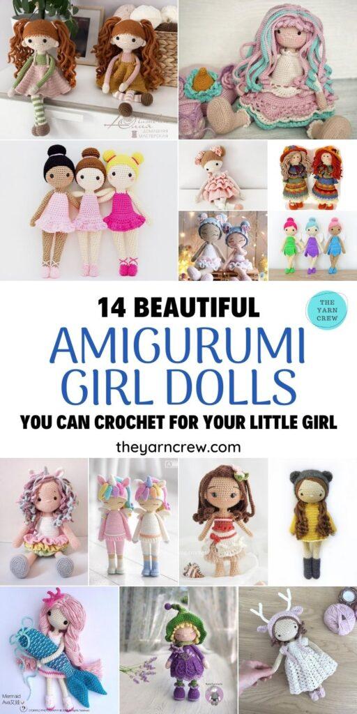 14 Beautiful Amigurumi Girl Dolls You Can Crochet For Your Little Girl FB POSTER PIN 1