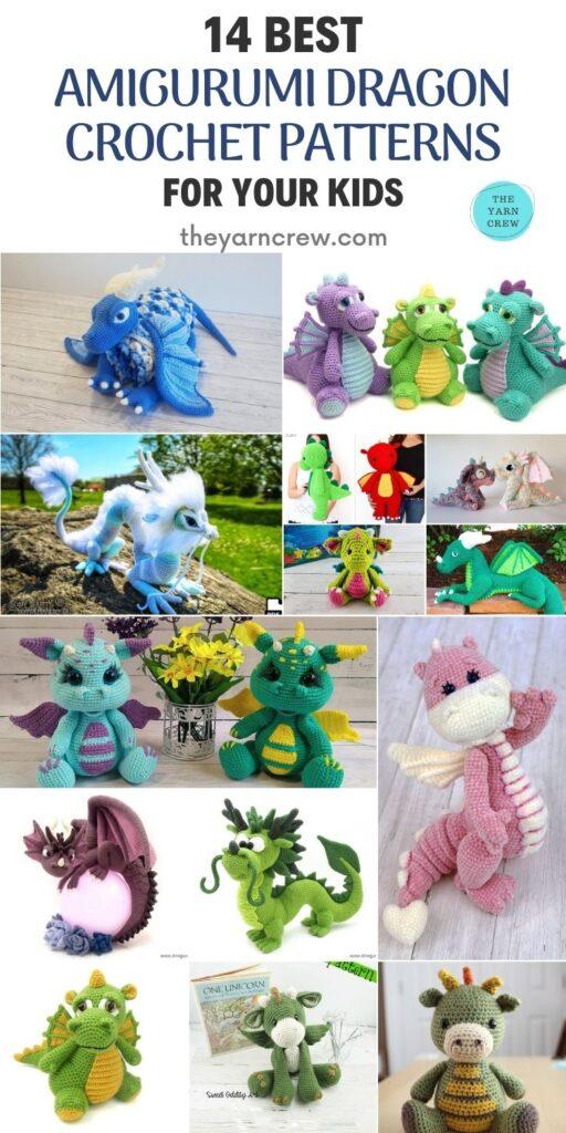 14 Best Amigurumi Dragon Crochet Patterns For Your Kids Pin 2