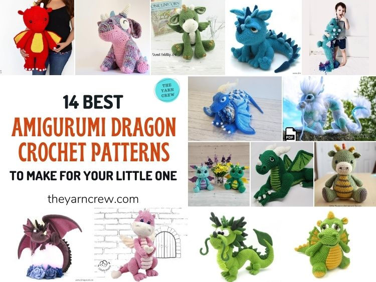 14 Best Amigurumi Dragon Crochet Patterns To Make For Your Little One FB Poster