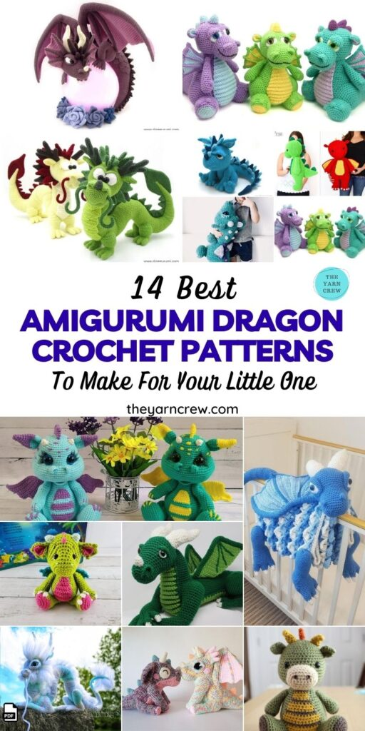 14 Best Amigurumi Dragon Crochet Patterns To Make For Your Little One Pin 1