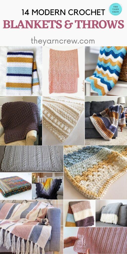 14 Crochet Modern Blankets & Throws - PIN2