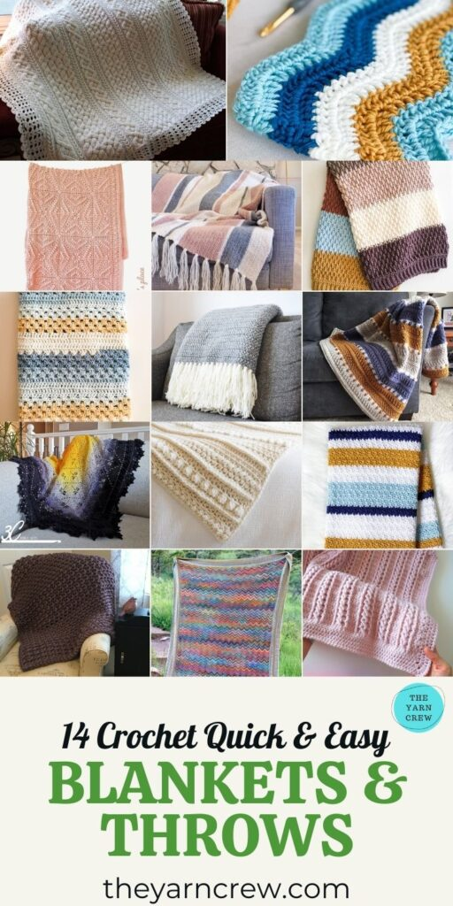 14 Crochet Quick & Easy Blankets & Throws - PIN3